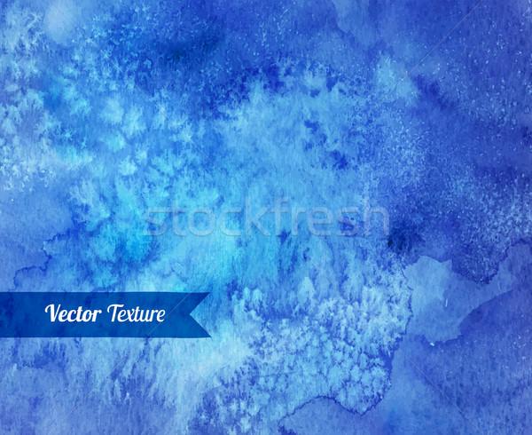 Blue watercolor vector texture. Stock photo © Sonya_illustrations