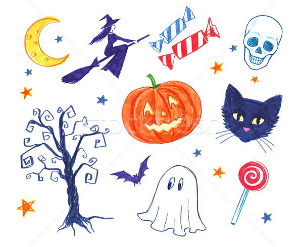 Felt pen childlike doodles. Stock photo © Sonya_illustrations
