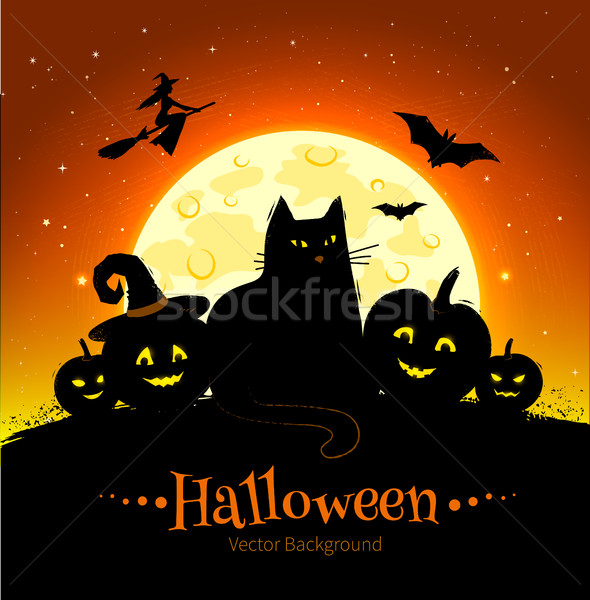 Stock photo: Happy Halloween background