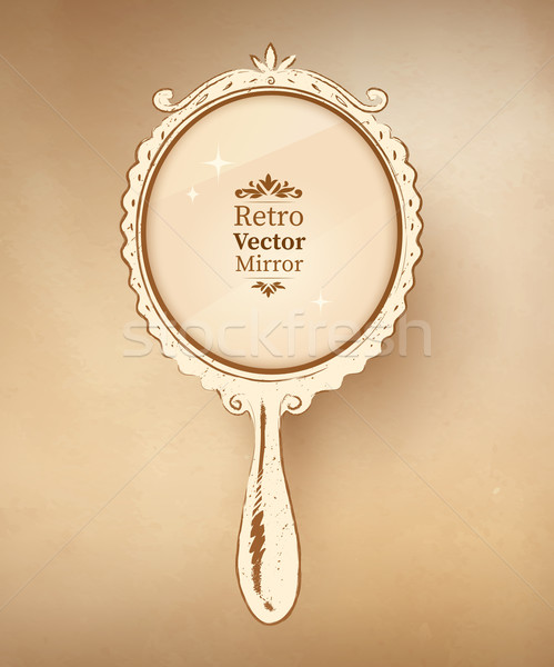 Vintage mirror. Stock photo © Sonya_illustrations