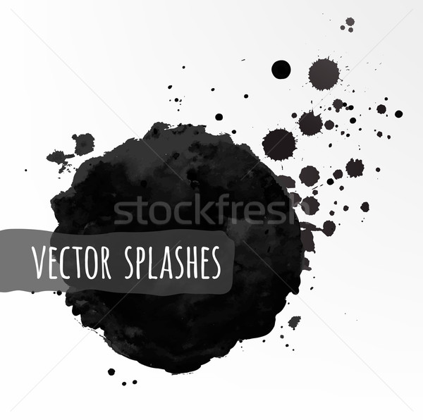 Inky vector splashes. Stock photo © Sonya_illustrations