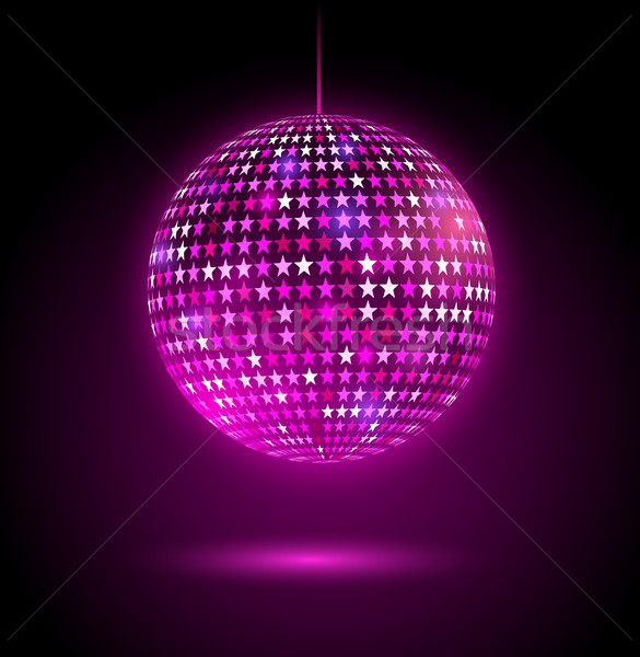 Glowing disco ball with stars. Stock photo © Sonya_illustrations