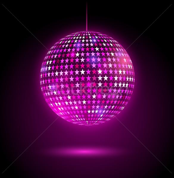 Disco ball sterren abstract licht achtergrond Stockfoto © Sonya_illustrations