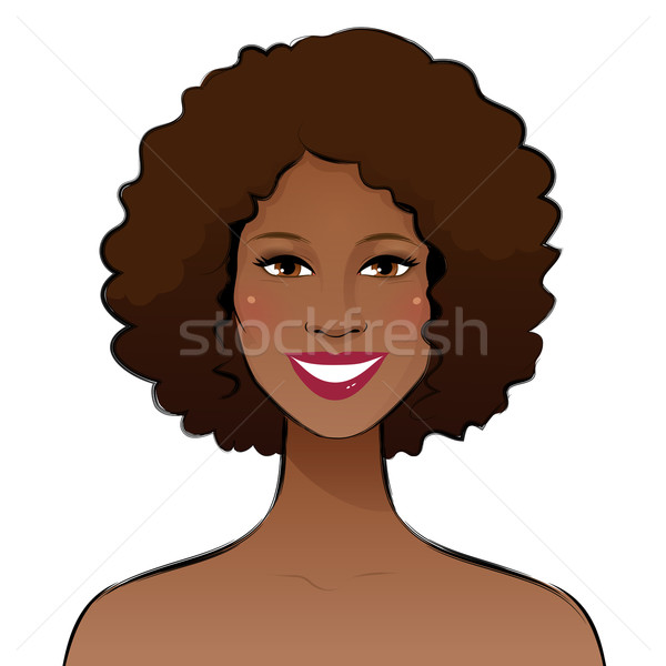 Smiling young woman.  Stock photo © Sonya_illustrations