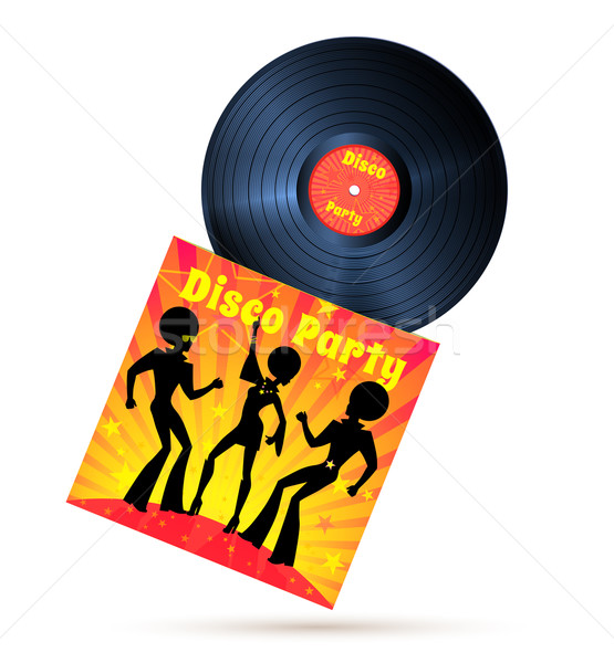 Vinyl record and cover Stock photo © Sonya_illustrations
