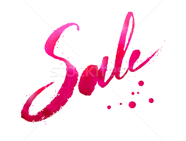 Watercolor lettering of Sale word Stock photo © Sonya_illustrations