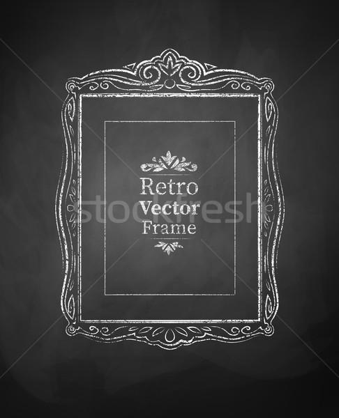 Vintage barroco marco grunge arte negro Foto stock © Sonya_illustrations