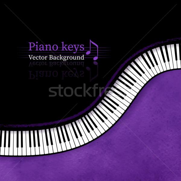 клавиши пианино Гранж вектора текстуры дизайна фон Сток-фото © Sonya_illustrations
