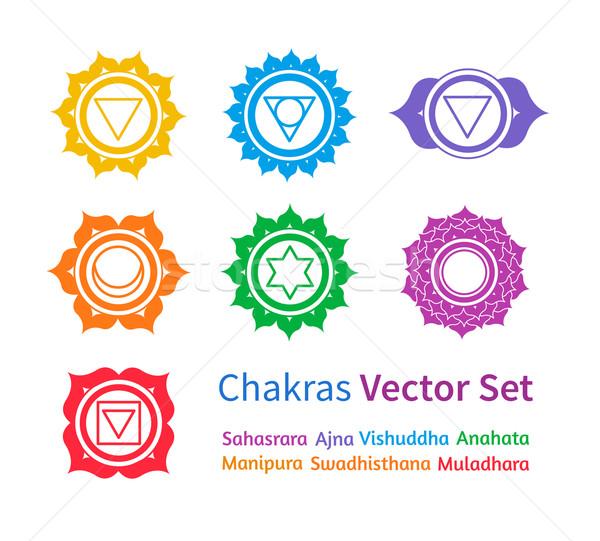 Chakras. Vector set. Stock photo © Sonya_illustrations