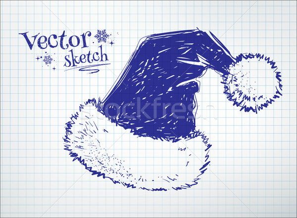 Santa claus hat.  Stock photo © Sonya_illustrations