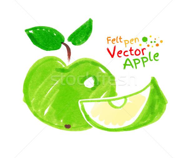 Childlike drawing of apple. Stock photo © Sonya_illustrations