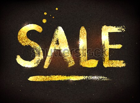 Stock photo: Sale word lettering