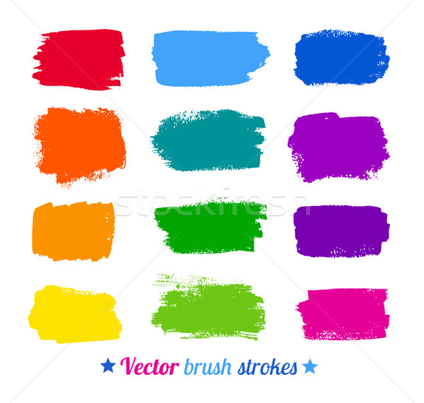 Stock photo: Colorful brush strokes.