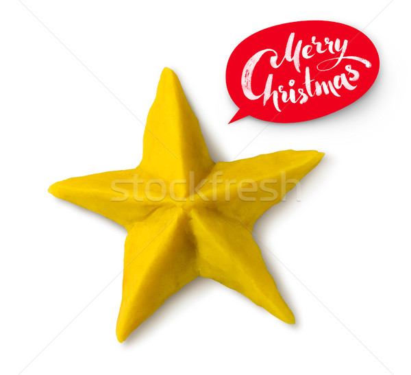 Christmas star on white background Stock photo © Sonya_illustrations