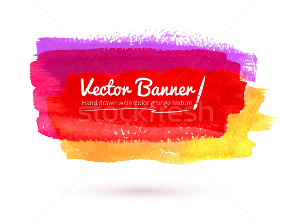 Aquarel banner veelkleurig abstract ontwerp verf Stockfoto © Sonya_illustrations