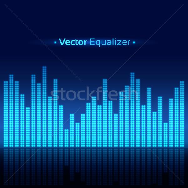 Ekolayzer vektör soyut müzik ışık teknoloji Stok fotoğraf © Sonya_illustrations
