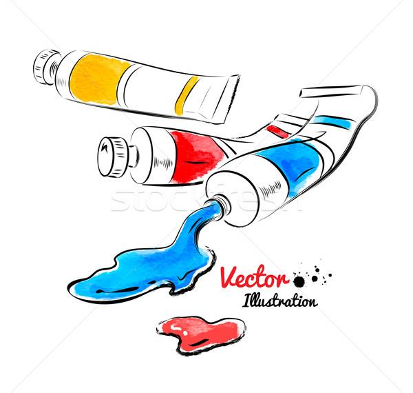 Paint tubes Stock photo © Sonya_illustrations