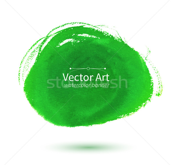 Watercolor green stain. Stock photo © Sonya_illustrations
