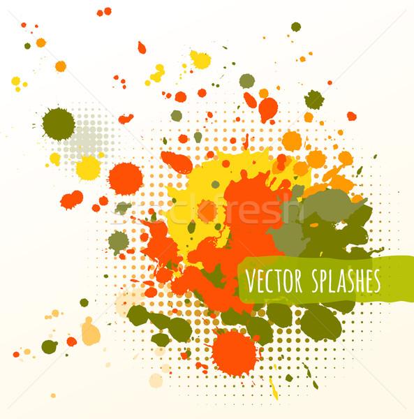 Inky colorful splashes.  Stock photo © Sonya_illustrations