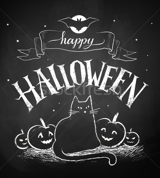 Felice halloween cartolina vettore Foto d'archivio © Sonya_illustrations