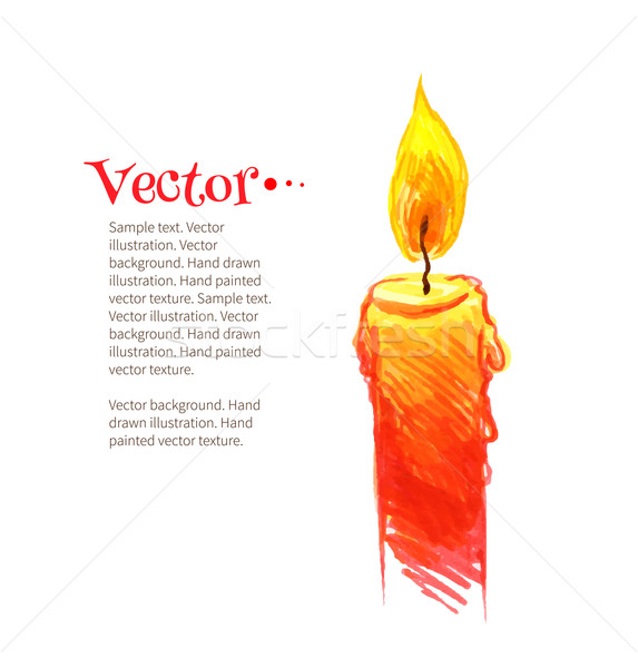 Burning candle Stock photo © Sonya_illustrations