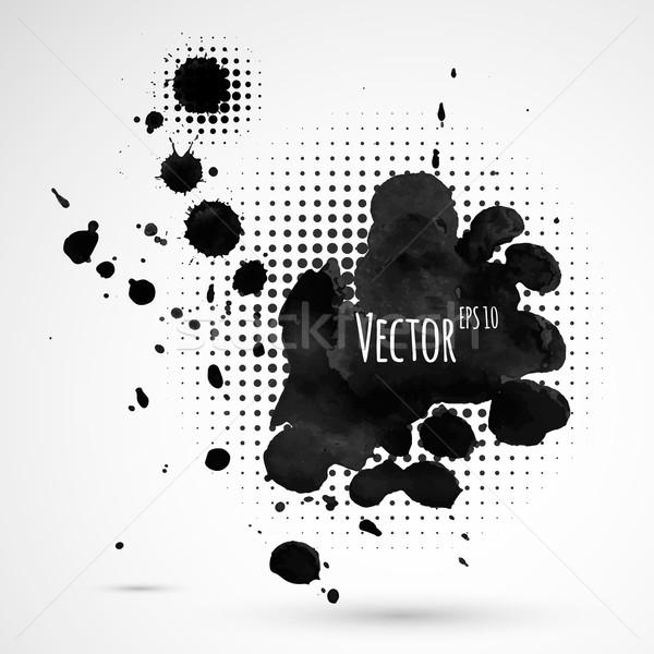 Medios tonos salpicaduras vector resumen diseno pintura Foto stock © Sonya_illustrations