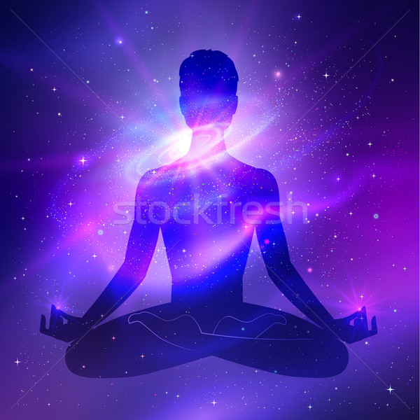 Outer space. Meditation.  Stock photo © Sonya_illustrations