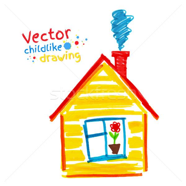 Childlike drawing of house.  Stock photo © Sonya_illustrations