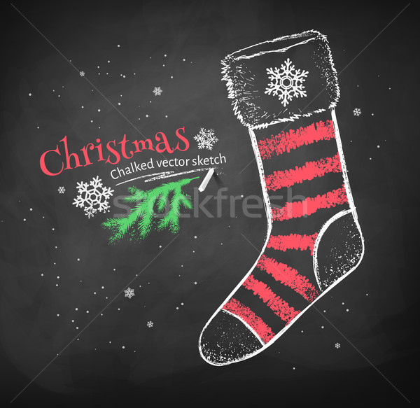 Strisce Natale calzino colore rosso bianco Foto d'archivio © Sonya_illustrations