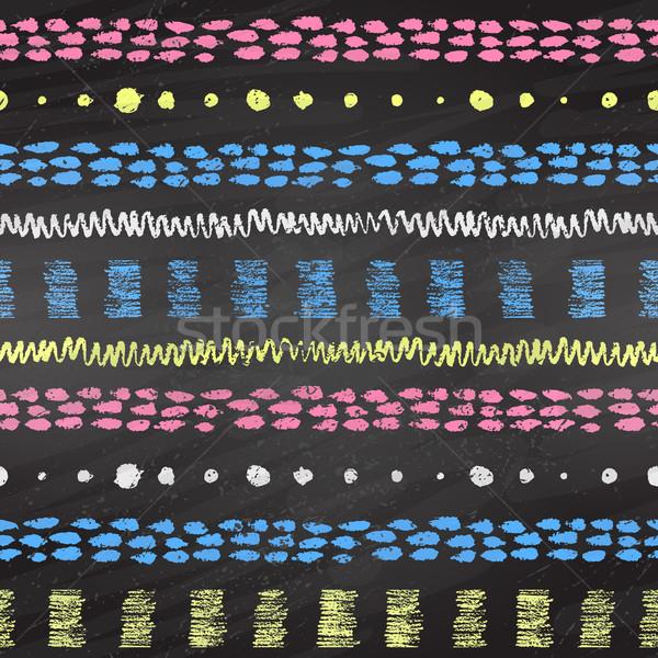 рисованной Гранж шаблон цвета Сток-фото © Sonya_illustrations