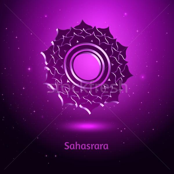 Chakra gezondheid sterren Maakt een reservekopie energie kleur Stockfoto © Sonya_illustrations