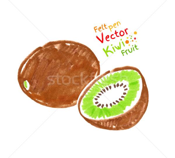 Kiwi fruto vetor caneta criança desenho Foto stock © Sonya_illustrations