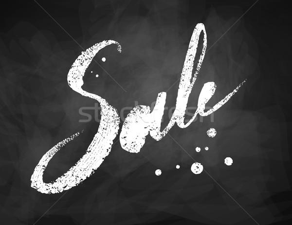 Sale word chalk lettering Stock photo © Sonya_illustrations