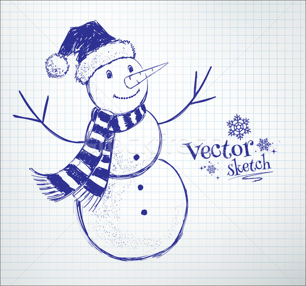 かわいい 雪だるま 学校 ノートブック ストックフォト © Sonya_illustrations