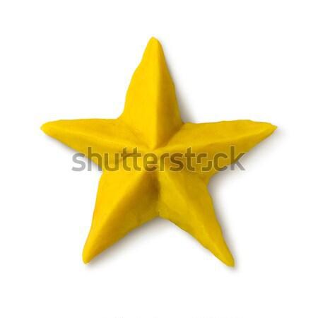Plasticine figure of Christmas star Stock photo © Sonya_illustrations