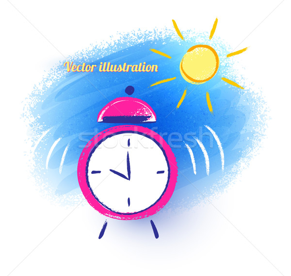 Alarm clock and morning sun.  Stock photo © Sonya_illustrations