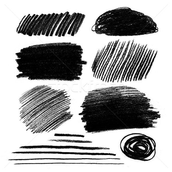 Black and white pencil hatching Stock photo © Sonya_illustrations