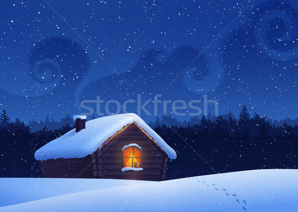 Winter landscape. Stock photo © Sonya_illustrations