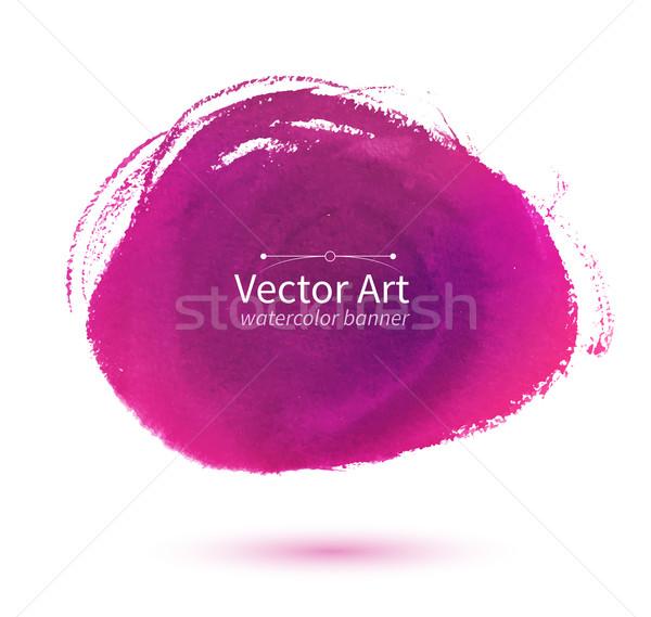 Różowy plama akwarela wektora wody Zdjęcia stock © Sonya_illustrations