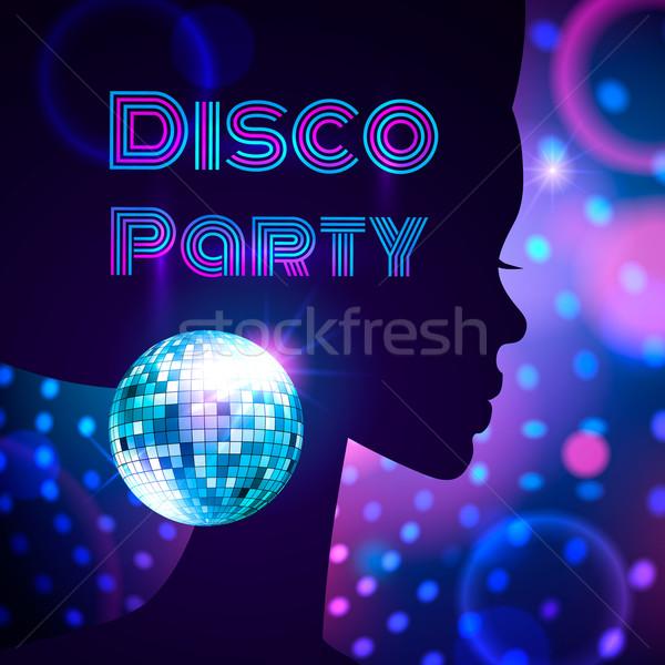 Disco strony muzyki streszczenie świetle projektu Zdjęcia stock © Sonya_illustrations