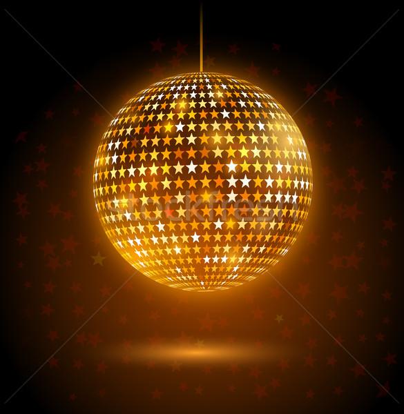 Disco ball złoty star świetle Zdjęcia stock © Sonya_illustrations