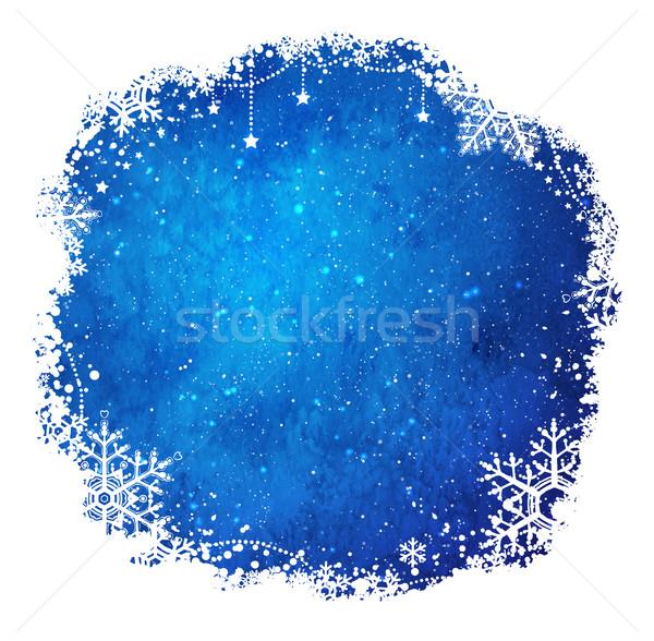 Christmas frame with snowflakes. Stock photo © Sonya_illustrations