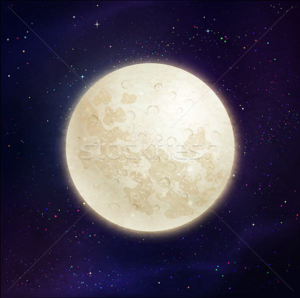 Full moon space background. Stock photo © Sonya_illustrations