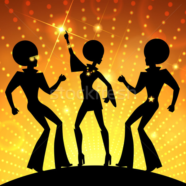 Dancing people Stock photo © Sonya_illustrations
