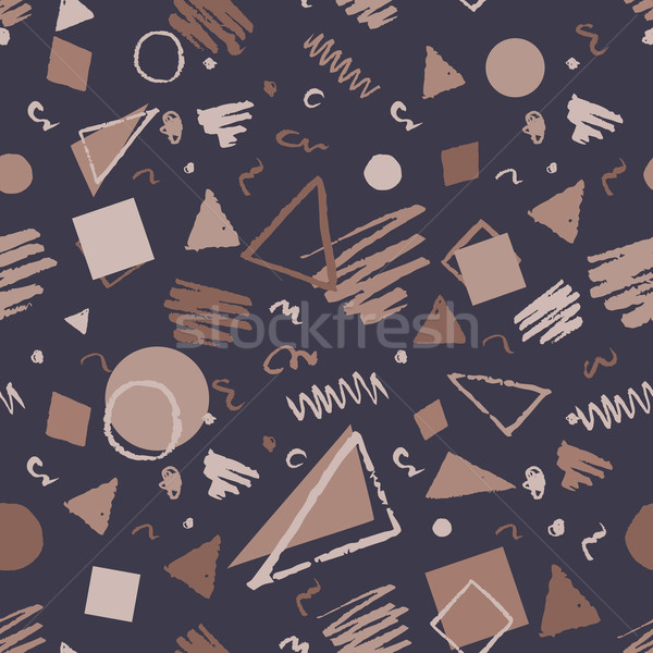 Vintage senza soluzione di continuità disegno geometrico rosolare piazze Foto d'archivio © Sonya_illustrations