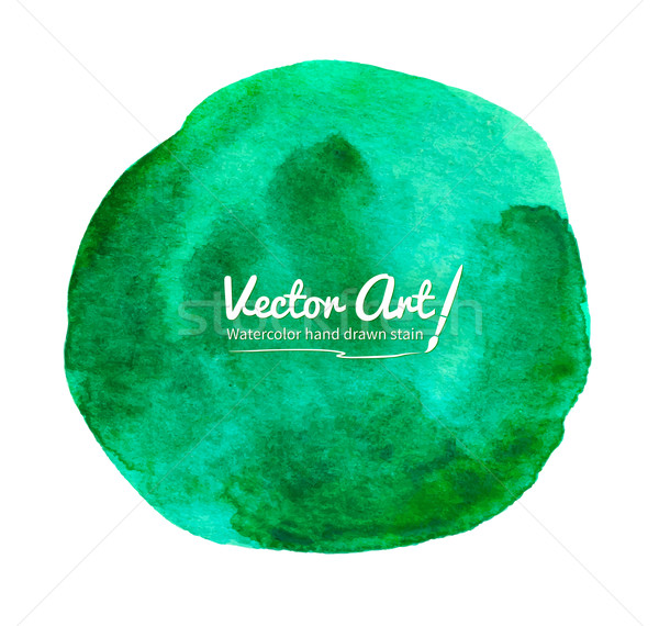 Watercolor green circle. Stock photo © Sonya_illustrations