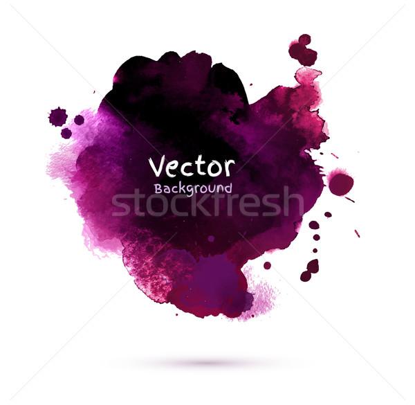 Vízfesték sötét folt vektor textúra absztrakt Stock fotó © Sonya_illustrations