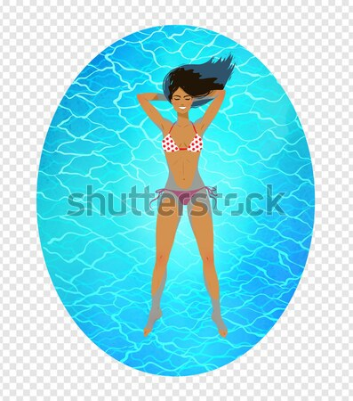 Tanned girl at the seaside. Stock photo © Sonya_illustrations