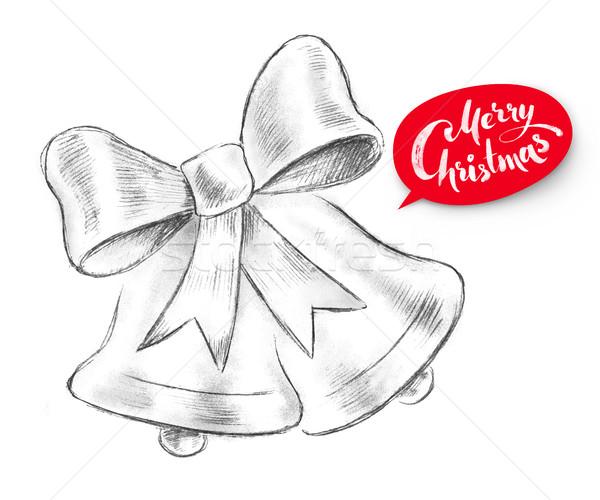 Farbują ilustracja christmas czerwony wstążka Zdjęcia stock © Sonya_illustrations