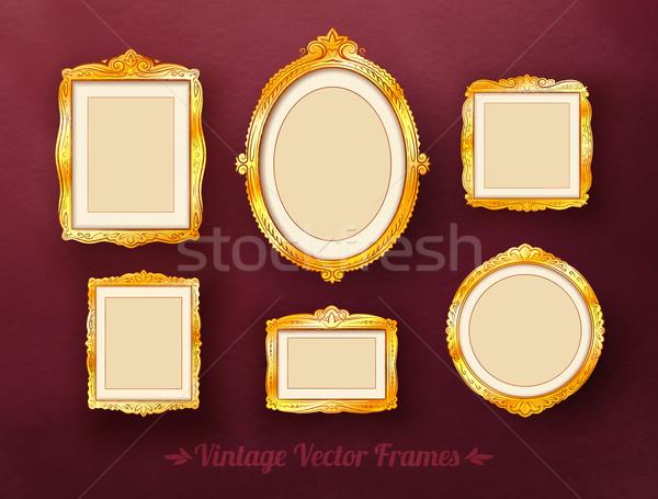 Vintage frames set. Stock photo © Sonya_illustrations